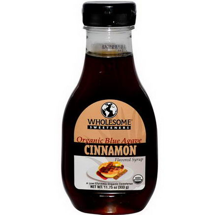 Wholesome Sweeteners, Inc. Organic Blue Agave Syrup, Cinnamon, 11.75oz (333g)