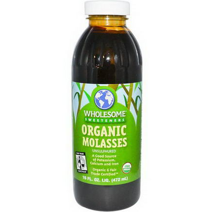Wholesome Sweeteners, Inc. Organic Molasses, Unsulphured, 16 fl oz (472 ml)