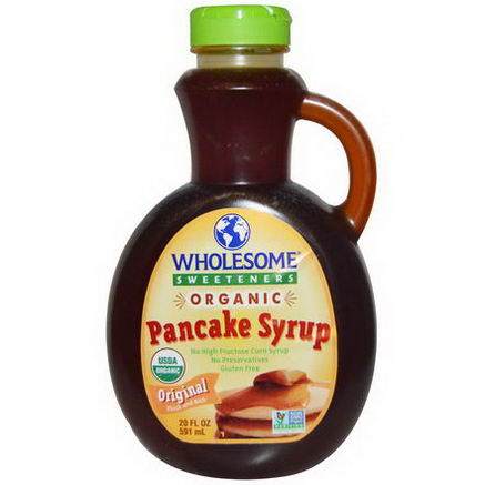 Wholesome Sweeteners, Inc. Organic Pancakes Syrup, Original Thick and Rich, 20 fl oz (591 ml)