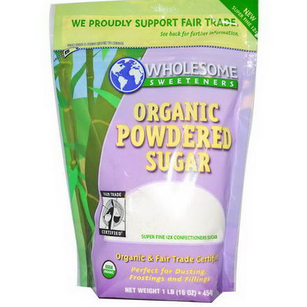 Wholesome Sweeteners, Inc. Organic Powdered Sugar, 16oz (454g)
