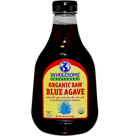 Wholesome Sweeteners, Inc. Organic Raw Blue Agave, Amber, 44oz (1.25 kg)