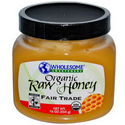 Wholesome Sweeteners, Inc. Organic Raw Honey, 16oz (454g)