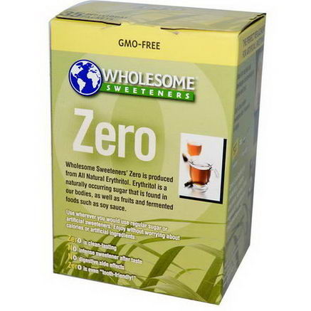 Wholesome Sweeteners, Inc. Zero, All Natural Erythritol, 35 Packets, 5g Each