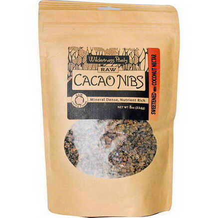 Wilderness Poets, Raw Cacao Nibs, 8oz (244g)