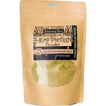 Wilderness Poets, Raw Hemp Protein Powder, 8oz (226.8g)
