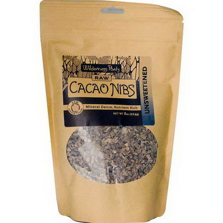 Wilderness Poets, Raw Cacao Nibs, Unsweetened, 8oz (224g)