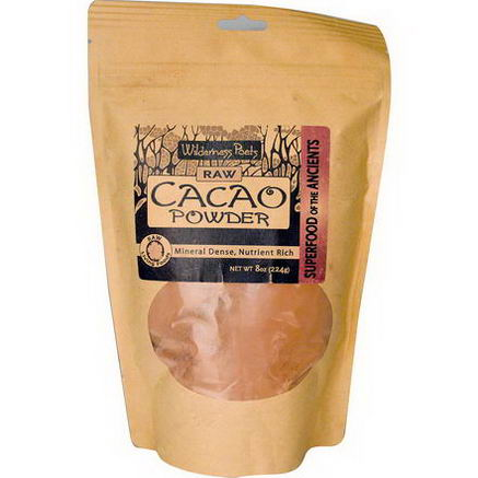Wilderness Poets, Raw Cacao Powder, 8oz (224g)
