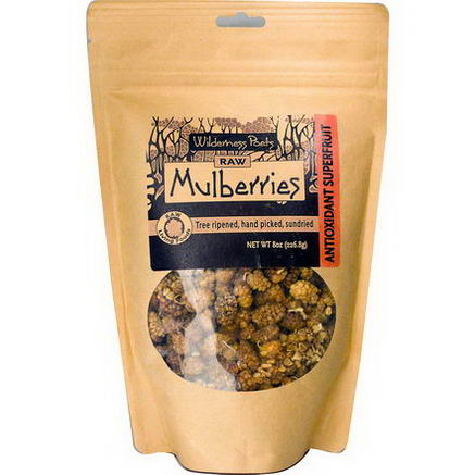 Wilderness Poets, Raw Mulberries, 8oz (226.8g)