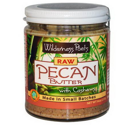 Wilderness Poets, Raw Pecan Butter with Cashews, 8oz (227g)