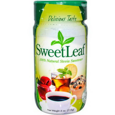 Wisdom Natural, SweetLeaf, 100% Natural Stevia Sweetener, 4oz (115g)