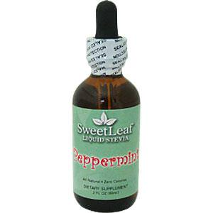 Wisdom Natural, SweetLeaf, Liquid Stevia, Peppermint, 2 fl oz (60 ml)