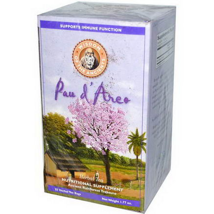 Wisdom Natural, Wisdom of the Ancients, Pau d'Arco, Herbal Tea, 25 Herbal Tea Bags, (2g) Each