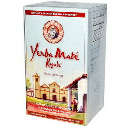 Wisdom Natural, Wisdom of the Ancients, Yerba Mate Royale, 25 Herbal Tea Bags, 1.77oz (50g)