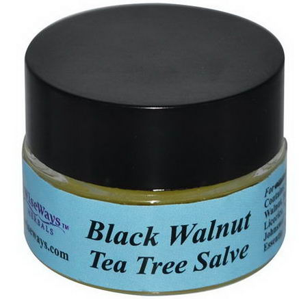 WiseWays Herbals, LLC, Black Walnut Tea Tree Salve, 1/4oz (7.1g)