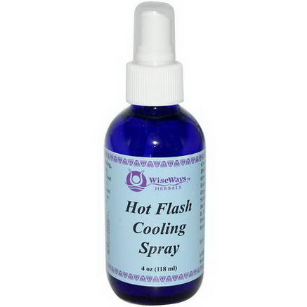 WiseWays Herbals, LLC, Hot Flash Cooling Spray, 4oz (118 ml)