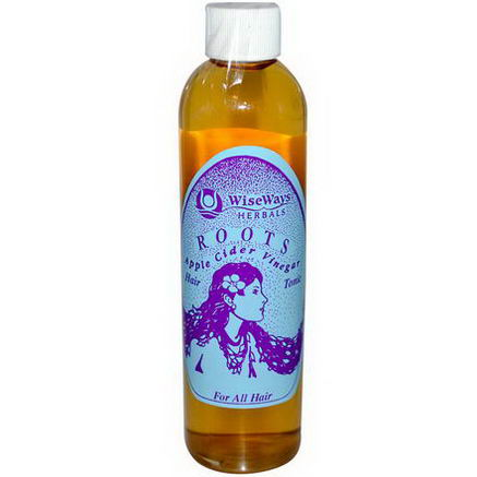 WiseWays Herbals, LLC, Roots Apple Cider Vinegar, Hair Tonic, 8.4oz (250 ml)