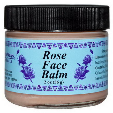 WiseWays Herbals, LLC, Rose Face Balm, 2oz (56g)