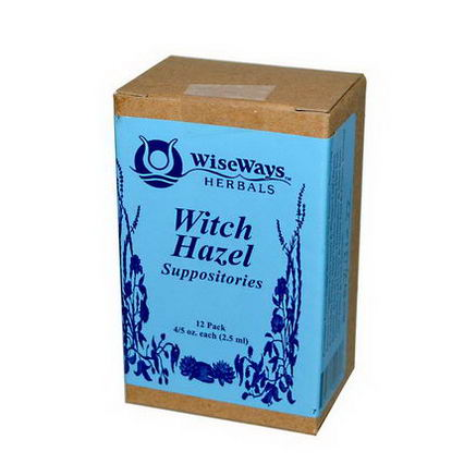 WiseWays Herbals, LLC, Witch Hazel Suppositories, 12 Pack, 4/5oz (2.5 ml) Each