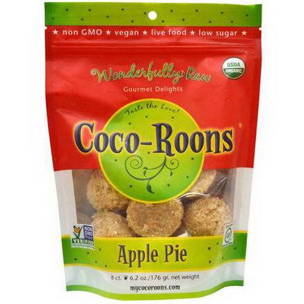 Wonderfully Raw Gourmet Delights, Organic, Coco-Roons, Apple Pie, 8 Count, 6.2oz (176g)