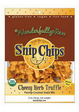 Wonderfully Raw Gourmet Delights, Snip Chips, Cheezy Herb Truffle, 2oz (56g)