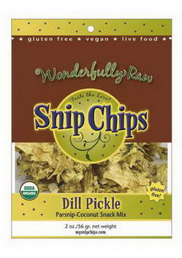 Wonderfully Raw Gourmet Delights, Snip Chips, Dill Pickle, 2oz (56g)