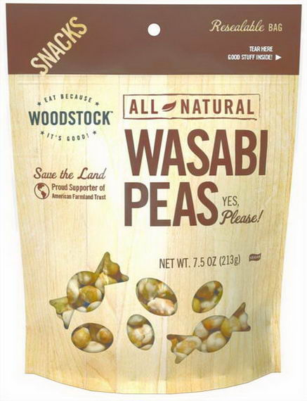 Woodstock Farms, All Natural Wasabi Peas, 7.5oz (213g)