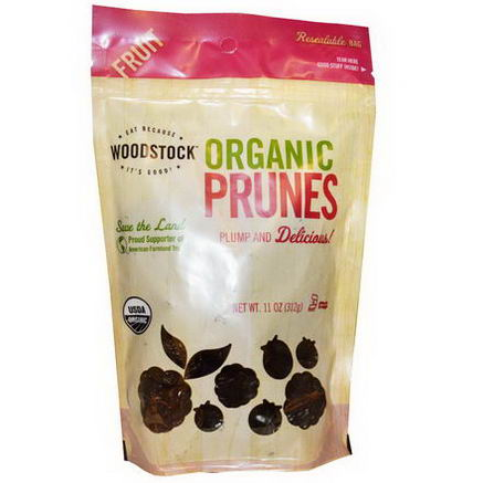 Woodstock Farms, Organic Prunes, Pitted, 11oz (312g)