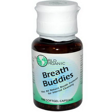 World Organic, Breath Buddies, 180 Softgel Capsules