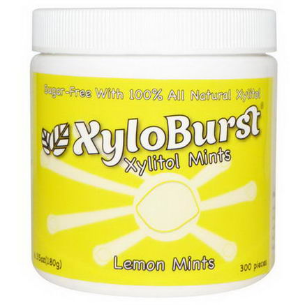 Xyloburst, Xylitol Mints, Lemon, 6.35oz (180g), 300 Pieces
