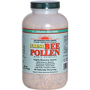 Y. S. Eco Bee Farms, Fresh Bee Pollen Whole Granules, 16.0oz (454g) (Ice)