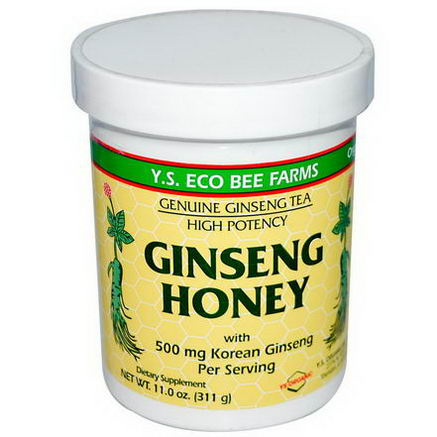 Y. S. Eco Bee Farms, Ginseng Honey, 11.0oz (311g)
