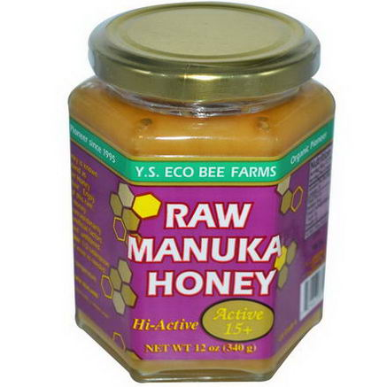 Y. S. Eco Bee Farms, Raw Manuka Honey, Active 15+, 12oz (340g)