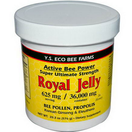 Y. S. Eco Bee Farms, Royal Jelly, 20.3oz (576g)