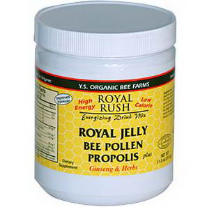 Y. S. Eco Bee Farms, Royal Rush Energizing Drink Mix, Royal Jelly, Bee Pollen, Propolis Plus Ginseng & Herbs, 11.0oz (312g)
