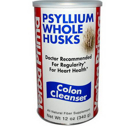 Yerba Prima, Psyllium Whole Husks, Colon Cleanser, 12oz (340g)