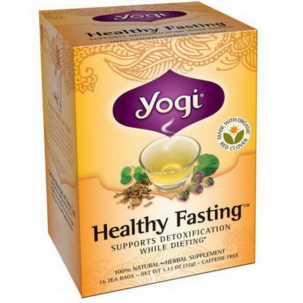 Yogi Tea, Healthy Fasting, Caffeine Free, 16 Tea Bags, 1.12oz (32g)