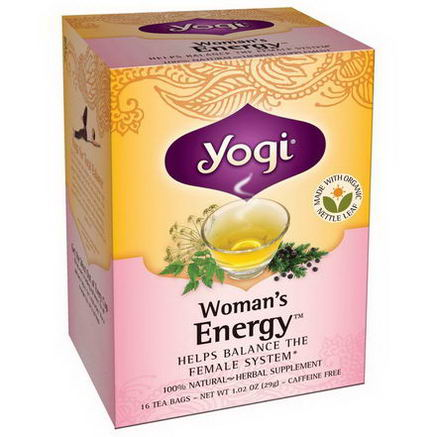 Yogi Tea, Woman's Energy, Caffeine Free, 16 Tea Bags, 1.02oz (29g)