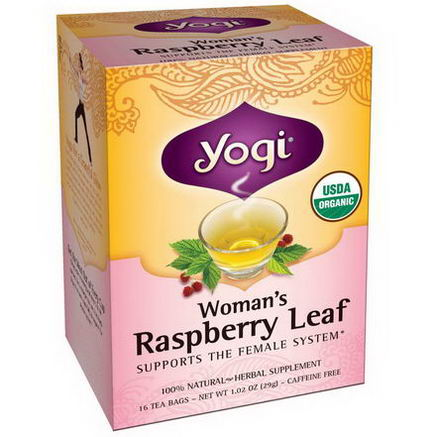 Yogi Tea, Woman's Raspberry Leaf, Caffeine Free, 16 Tea Bags, 1.02oz (29g)