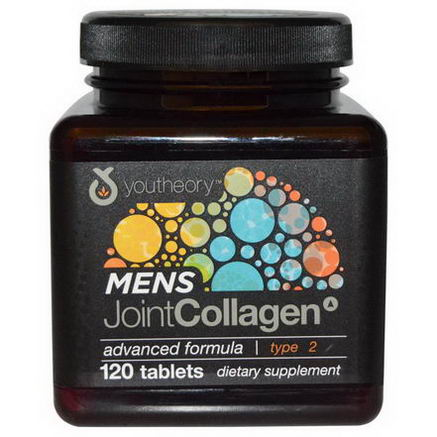 Youtheory, Mens Joint Collagen, Type 2, 120 Tablets