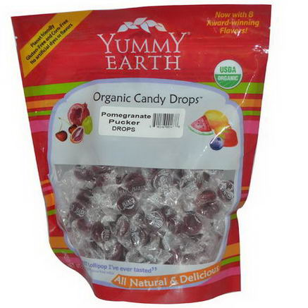 Yummy Earth, Organic Candy Drops, Pomegranate Pucker, 13oz (369g)
