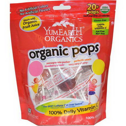 Yummy Earth, Organic Pops, 20+ Pops, 4.2oz (119g)