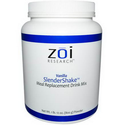 ZOI Research, SlenderShake, Meal Replacement Drink Mix, Vanilla, 1 lb 12oz (800g)