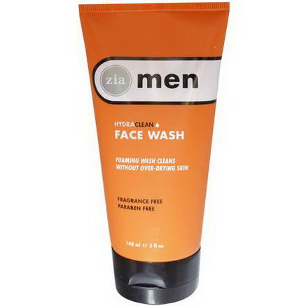Zia Natural Skincare, Men, HydraClean Face Wash, 5 fl oz (148 ml)