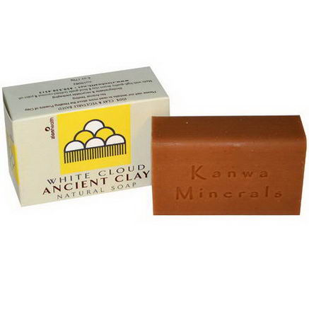Zion Health, Ancient Clay Natural Soap, White Cloud, 6oz (170g)