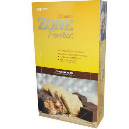 ZonePerfect, Classic, All-Natural Nutrition Bars, Fudge Graham, 12 Bars, 1.76oz (50g) Each