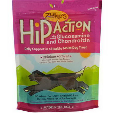 Zuke's, Hip Action, Dog Treat, Chicken Formula, 6oz (170g)