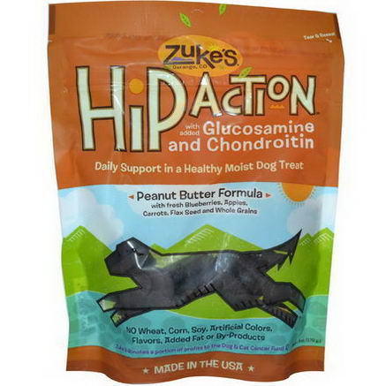 Zuke's, Hip Action, Dog Treats, Peanut Butter Formula, 6oz (170g)