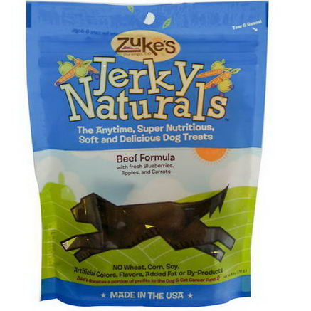 Zuke's, Jerky Naturals, Dog Treats, Beef Formula, 6oz (170g)
