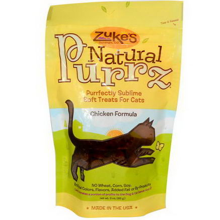 Zuke's, Natural Purrz, Soft Treats for Cats, Chicken Formula, 3oz (85g)