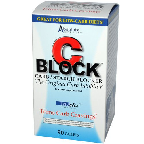 Absolute Nutrition, C Block, Carb / Starch Blocker, 90 Caplets Review